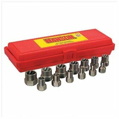 Hanson 54113 13 Piece Professional's Industrial Bolt Extractor Set