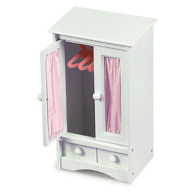 Badger Basket Doll Armoire with Three Hangers - White fits American Girl (Badger Basket Doll Armoire)