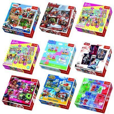 Trefl 4 in 1 Puzzle 35+48+54+70 Teile Cartoon Superheld Chraktere Jungen Mädchen 35 Piece Framed Puzzle
