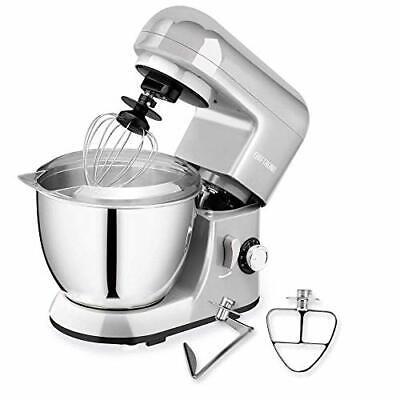 6 speeds Silver Stand Mixer Baking Machine Kitchen Dough Bread Cake Cooking