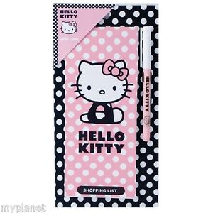 HELLO-KITTY-OFFICIAL-FRIDGE-MAGNET-MAGNETIC-SHOPPING-LIST-PAD-WITH-PEN-GIFT-SET