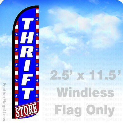 2 5X11 5 Windless Swooper Feather Flag Banner Sign   Thrift Store Bz