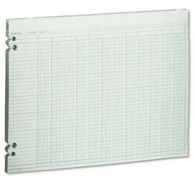 Wilson Jones 20-column Prepunch Ledger Paper - 11 X 14 Sheet Size - G3020
