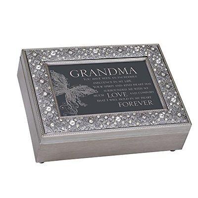 Grandma In My Life Much Love Filigree Jewel Bead Silver Tone Music Box - Canon D