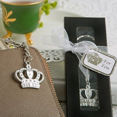 40 Silver Crown Keychain Mis Quince Anos Quinceanera Princess Party Favors