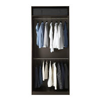 Black Two Rung Ikea Pax Wardrobe $100 OBO