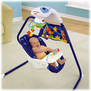 Fisher Price Plug in Swing-Speeds,Music,Mobile,Lights,Positions,