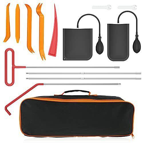 14pcs Car Tool Kit Professional Emergency Car Kit Tool Sets with Air Wedge Pump