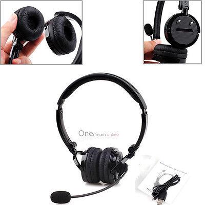 Bluetooth 4.1 Stereo Noise-canceling Trucker Headset W Mi...