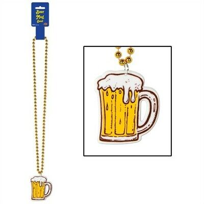 Tasting Party Supplies (Beads w/Beer Mug Medallion Oktoberfest Beer Tasting Event Party)