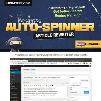 Wordpress Auto Spinner - Articles Rewriter Limited Time Offer - Updated
