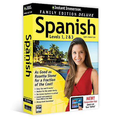 Instant Immersion  Levels 1  2   3 Family Spanish Deluxe Edition   Brand New