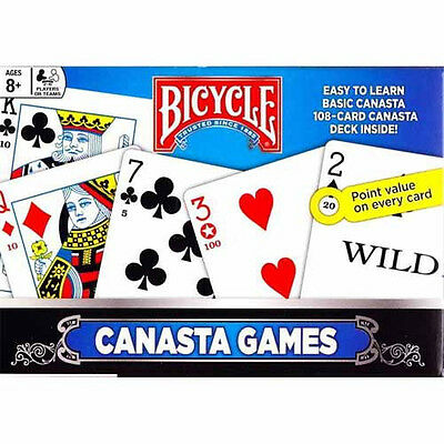 2 Deck Set Bicycle Canasta Playing Cards BOX & RULES