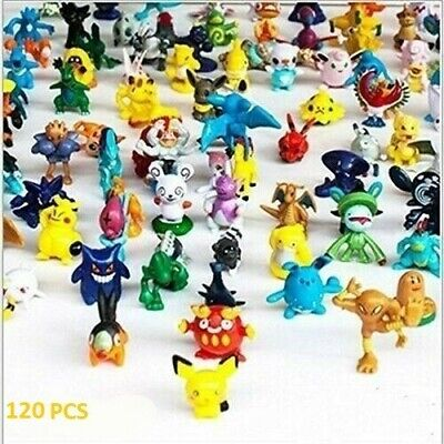 120Pcs Pokemon Pocket Mini 2-3cm Action Figures Kids Toys Birthday Gift