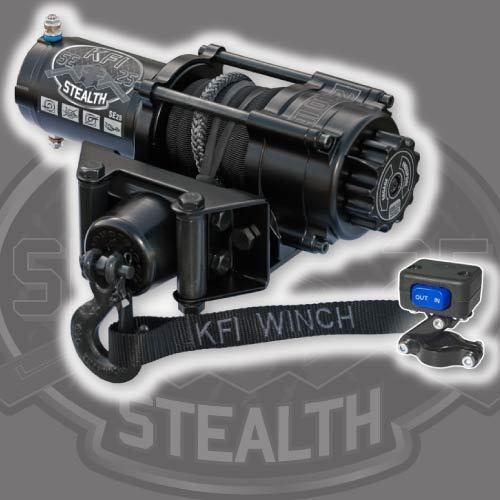 KFI utv SE25 Stealth Winch w mount kit Polaris 900 RZR EPS 4