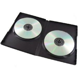 100 Standard Black Double CD DVD Case 14MM Movie Box