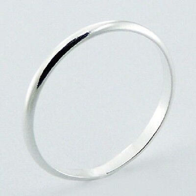 Silver ring sterling silver Plain band ring 2mm wide SIZE 5us Hallmarked 925