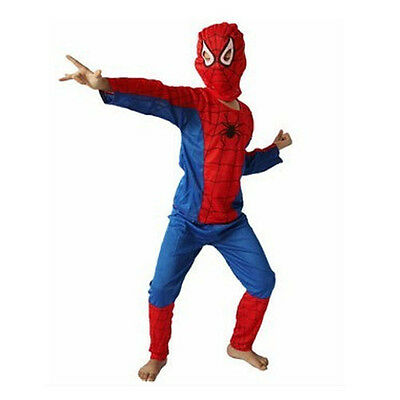 Spiderman Cosplay Costume: Jacket & Trousers & Headcover for Boy Halloween Gift