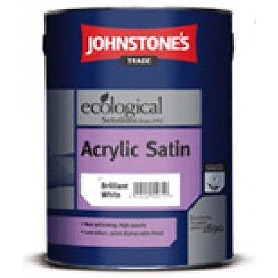 Johnstones trade acrylic water based satin finish paint brilliant white ebay - Johnstones exterior paint set ...
