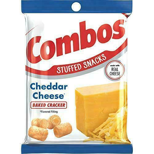 COMBOS Cheddar Cheese Baked Cracker Stuffed Snacks, 6.3 Oz (1-Large Bag)