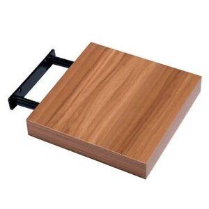 New Hudson Small Walnut Finish Wood Effect Floating Shelf
