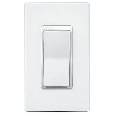 GE Z-Wave Auxiliary/Remote Wall Switch, White & Lt Almond (New 12723)