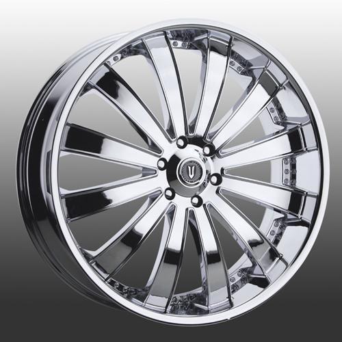 Versante 225 26 Inch Chrome Wheels & Tires fit 6 X 136 Escalade, Avalanche,Tahoe