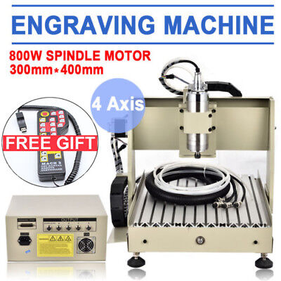 4 Axis 3040 Usb Cnc Router Engraving Milling Carving Drilling Machine 800wrc