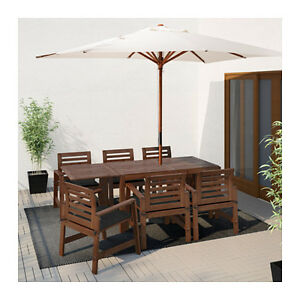 Patio Furniture Set - 6 chairs and drop leaf table (seats 8)