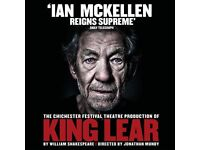 2 stalls tickets in Row K to King Lear | Friday 24th August (inc. champagne, ice cream and snacks)