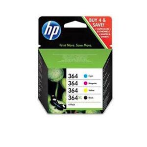 Set Original Genuine HP 364XL Black HP 364 Cyan Magenta Yellow 4 Ink Multi Combo