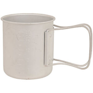 NEW Olicamp Space Saver Mug Aluminum Travel Cup Backpacking Camping 330447