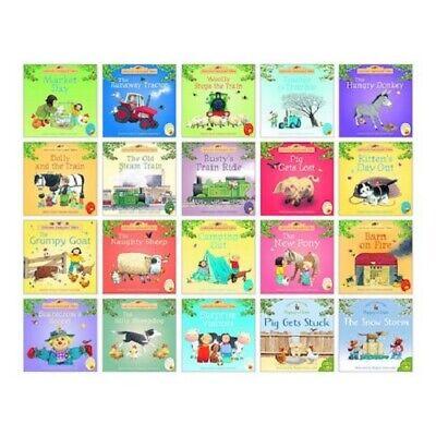 Usborne Farmyard Tales Story Collection Children 20 Book Set Pack Mini Books