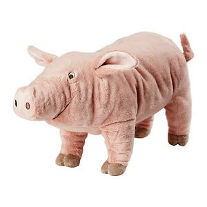 Brand-new-IKEA-KNORRIG-Pink-Pig-Kids-Soft-Stuffed-Animal-Plush-Toy