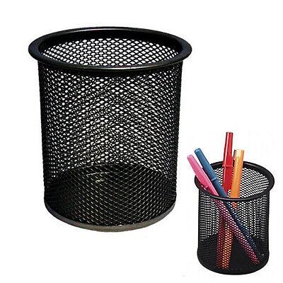 Black Steel Mesh Desk Pen Pencil Organiser Cup Holder Office School Supplier