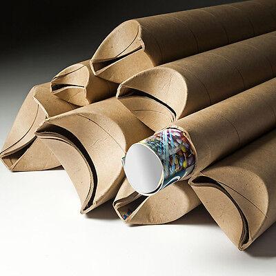 2x12 Yazoo Premium Kraft Snap Seal Mailing Shipping Tubes - 48ctn