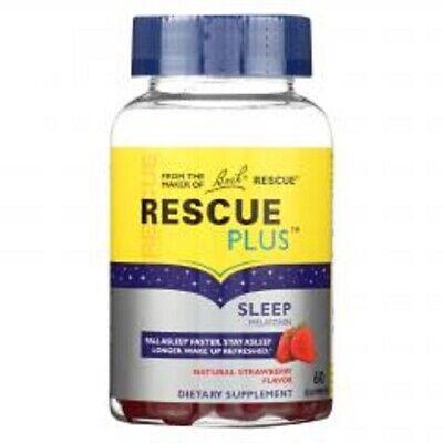 Sleep Melatonin Gummies 5mg Bach Flower Remedies 60 count Rescue Liquid Melts