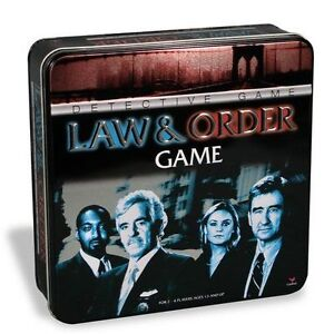 Law and Order Detective Game in a Tin by Cardinal London Ontario image 1