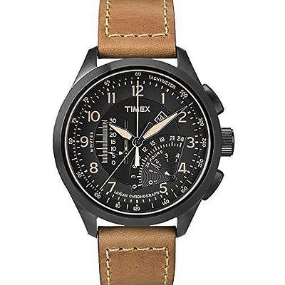Timex T2P277, Men's Intelligent Quarts Linear Chronograph Watch, Brown Leather