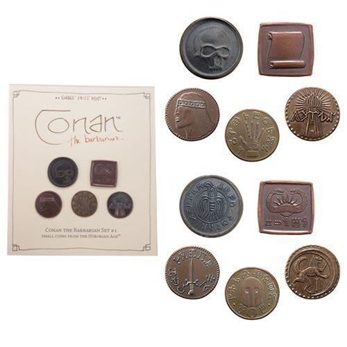 Conan the Barbarian * Coin Set #1 * Hyborian Age Prop Replicas Licensed 5-pc Set