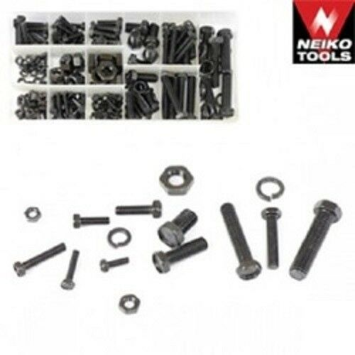 240 PIECE METRIC NUT AND BOLT ASSORTMENT WITH STORAGE BOX, FREE SHIPPING !!