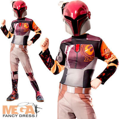 Deluxe Sabine Girls Fancy Dress Star Wars Rebels TV Kids Childs Costume Outfit
