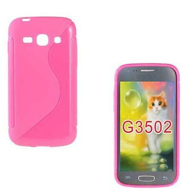 SILIKON H LLE F SAMSUNG GALAXY CORE PLUS G350 ETUI CASE COVER TASCHE HOT PINK
