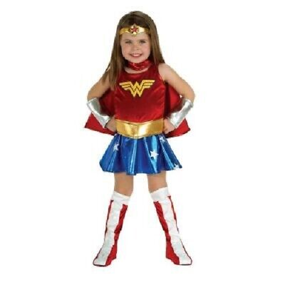 Dc Super Heroes Costumes ( DC Super Heroes Wonder Woman Costume Toddler Infant Size 2-4, 1-2 year)