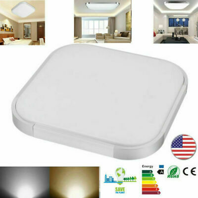 20W LED Fixture Ceiling Light Lamp Modern Square Surface Mount Lobby Room White Square Light Fixture