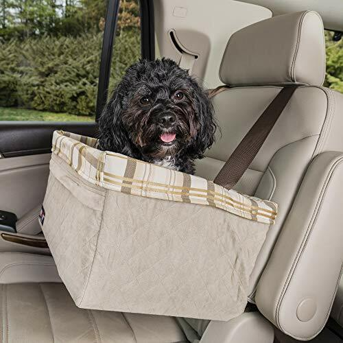 PetSafe Happy Ride Quilted Booster Seat - Dog Booster Seat for Cars, Trucks and