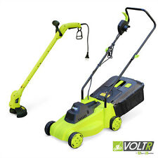 Pack électrique VOLTR, tondeuse à gazon Ø32cm 1300W + débroussailleuse Ø20cm 250