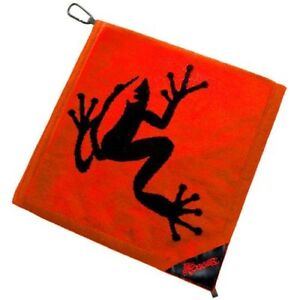 Authentic Frogger Amphibian Golf Towel Red Free Champ Golf Tees