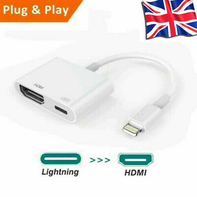 1080P Lightning to Digital AV TV HDMI Cable Adapter For iPad Air Apple iPhone