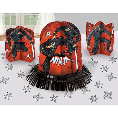 NINJA TABLE DECORATING KIT ~ Birthday Party Supplies Centerpiece Confetti Stars](Ninja Stars Paper)